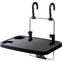 ハンドルテーブル 車 テーブル 後部座席 折りたたみ 高さ・角度調整 13インチ ブラック P-CARPC01BK エレコム 1個(直送品)