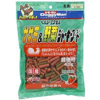 ドギーマン 超徳用 ヘルシージャーキー エクセルササミ&野菜 国産 400g 1袋