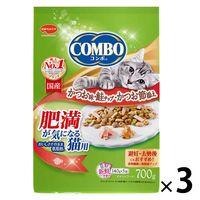 コンボ キャットフード 肥満が気になる猫用 避妊・去勢後にも かつお味 国産 700g(140g×5袋)3袋