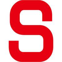 グリーンクロス カッティングステッカー 英字S 文字高100mm 赤 6300008262 1枚(直送品)