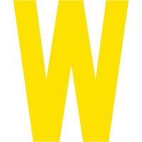 グリーンクロス カッティングステッカー 英字W 文字高100mm 黄 6300008338 1枚(直送品)