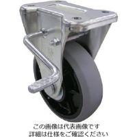 ユーエイ 産業用キャスター左S付固定車 100径ナイロンホイルウレタン車輪 GUKB-100(L) 1個 809-2980(直送品)