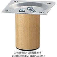 アイテック(AiTec) 光 スマートレグ木製丸脚33×50mmシルバー KSW-3305 1セット(4本) 820-1675(直送品)