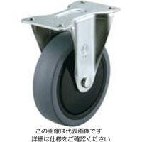 ユーエイ プレート式キャスター固定車100径エラストマー車輪 SR-100SEL 1個 809-3631(直送品)
