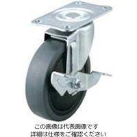 ユーエイ プレート式キャスター自在車S付100径エラストマー車輪 SFHG-100SELDS 1個 809-3602(直送品)