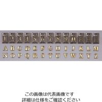 光(ヒカリ) 光 真鍮文字A NUM43-A 1個 224-9190(直送品)