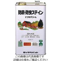 ロックペイント ロック 防腐・防虫ステイン チーク 4L H85-0003-02 1セット(4缶) 851-2553(直送品)