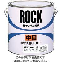 ロックペイント ロック ポリパテ主剤 中目 4Kg 057-0150-02 1セット(4缶) 851-1731(直送品)