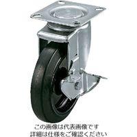 ユーエイ サイレンスキャスター自在車DS付き 100径ナイロンホイルゴム車輪 SI-100NRBDS 1個 809-3390(直送品)