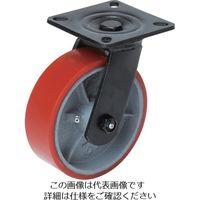OH スーパーストロングキャスター重荷重用 自在ウレタン車輪 車輪径100mm 許容荷重350kg 14FU-100 808-0870(直送品)