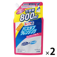 ルックプラス バスタブクレンジング フローラルソープの香り 詰替大型 1セット(800ml×2個) ライオン