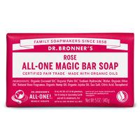 ドクターブロナー マジックソープバー(magic soap) 石鹸 ローズ 140g ネイチャーズウェイ