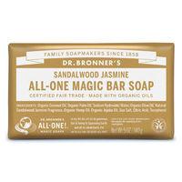 ドクターブロナー マジックソープバー(magic soap) 石鹸 サンダルウッド&ジャスミン 140g ネイチャーズウェイ