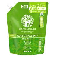 ハッピーエレファント 食器洗い機用ジェル 詰め替え 800ml 1個 食洗機用洗剤 サラヤ