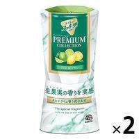 トイレのスッキーリ! プレミアムコレクション ライム&レモン 400ml 1セット(2個) アース製薬