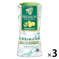 トイレのスッキーリ! プレミアムコレクション ライム&レモン 400ml 1セット(3個) アース製薬