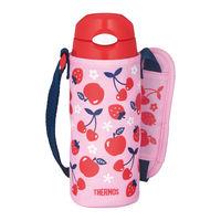 サーモス(THERMOS) 水筒 真空断熱ストローボトル 400ml ピンクレッド FHL-402F PK-R キッズ 子供