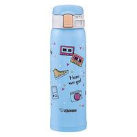 ZOJIRUSHI(象印)水筒 ワンタッチ ステンレスマグ 保温保冷 スケッチブルー 480ml SM-SG48-AZ