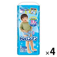 トレパンマン 男の子用 ビッグサイズ(12〜22kg) 1ケース(32枚入×4パック) ユニ・チャーム