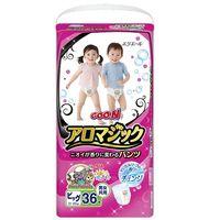 グーン おむつ パンツ ビッグ(12〜20kg) 1ケース(36枚入×3パック) アロマジック 大王製紙