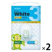 ネピア Whito(ホワイト) おむつ パンツ M 3時間タイプ 1パック(62枚入) 王子ネピア