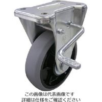 ユーエイ 産業用キャスター右S付固定車 100径ナイロンホイルウレタン車輪 GUKB-100(R) 1個 809-2981(直送品)