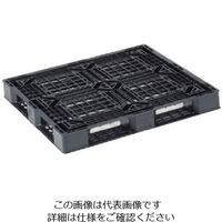 リス パレットJL-D4・1111E3片面四方差しストレッチ梱包限定120H 黒 JL-D4.1111E-3 BK 868-6966(直送品)