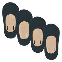 無印良品 かかと滑り止め付き 4足組 深履きフットカバー 婦人 23~25cm 黒 良品計画