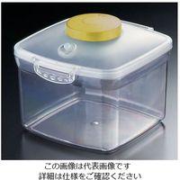 遠藤商事 プッシュ式バキュームコンテナー 正方形 NVMQ09 大 イエロー 1個 62-6391-87(直送品)