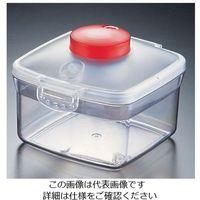 遠藤商事 プッシュ式バキュームコンテナー 正方形 NVMQ07 小 レッド 1個 62-6391-88(直送品)