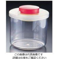 遠藤商事 プッシュ式バキュームコンテナー 丸 M型 NVC506 小 レッド 1個 62-6391-93(直送品)