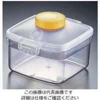遠藤商事 プッシュ式バキュームコンテナー 正方形 NVMQ07 小 イエロー 1個 62-6391-89(直送品)