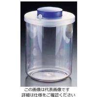 遠藤商事 プッシュ式バキュームコンテナー 丸 L型 NVC610 中 ブルー 1個 62-6391-98(直送品)