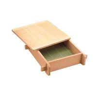 遠藤商事 木製 角セイロ 関東型(サワラ材) 33cm 1個 62-6441-31(直送品)