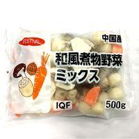 富士通商 「業務用」和風煮物野菜ミックス 10袋:500G(直送品)