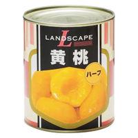 マックストレーディング 「業務用」黄桃(ハーフ) 12缶:2ゴウ(直送品)