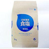 「業務用」食塩(大) 4袋:5KG(直送品)