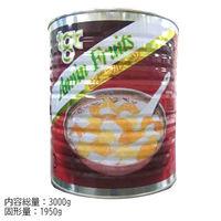 天狗缶詰 「業務用」杏仁フルーツ(赤缶) 4975242071407 6缶:1ゴウ(直送品)
