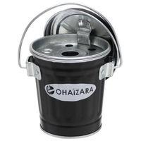 渡辺金属工業 日本製蓋付き灰皿 OHB/0.5 0.35Lサイズ ブラック 3個セット OHB/0.5_3P(直送品)