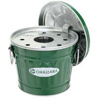 渡辺金属工業 日本製蓋付き灰皿 OHG/1Lサイズ グリーン 3個セット OHG/1L_3P(直送品)