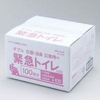 ダブル抗菌・消臭 災害時の緊急トイレ100回分 KBO-28100 1セット(100回分) 旭電機化成(直送品)