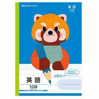 ショウワノート 福田利之シリーズ B5サイズ 英語10段/レッサーパンダ・青 FIC-F10 056003102 10冊(直送品)