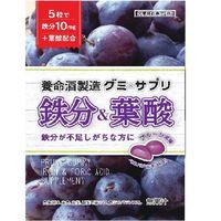 養命酒製造 グミ&サプリ鉄分×葉酸 4987236015786 40G×12個(直送品)