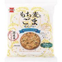 岩塚製菓 もち麦とごませんべい 4901037122610 10マイ×12個(直送品)