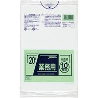 ジャパックス 業務用ポリ袋 20L10枚 半透明 厚み0.025mm TM24 1冊(10枚)