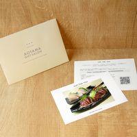 AoyamaLab 【戻りかつおまぐろ詰め合わせ(140g x 3)】用ギフトカード D2-ADR9117-card(直送品)
