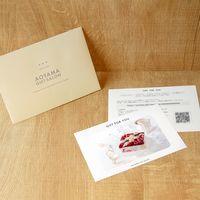 AoyamaLab 【「銀座千疋屋」 ストロベリーアイスケーキ】用ギフトカード D2-FDC9032-card(直送品)