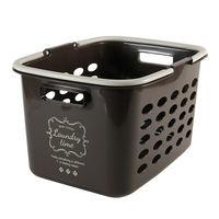 ランドリーバスケット 浅型 洗濯カゴ バスケット チョコレートブラウン(取寄品)