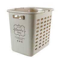 ランドリーバスケット 深型 洗濯カゴ バスケット サンドベージュ(取寄品)