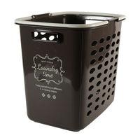 ランドリーバスケット 深型 洗濯カゴ バスケット チョコレートブラウン(取寄品)